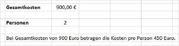 Excel Formeln kombinieren
