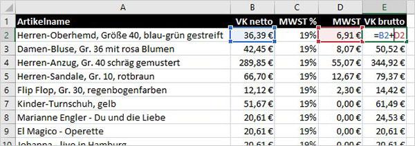 Excel - Zirkelbezüge
