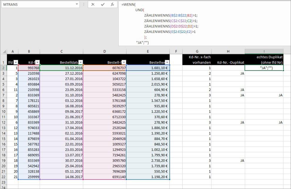 Excel - Duplikate