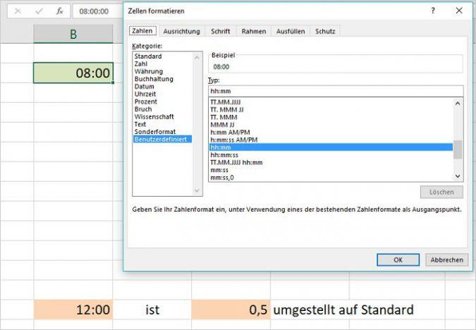 Excel - Rechnen mit Uhrzeiten