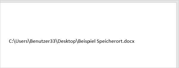 Word Speicherort