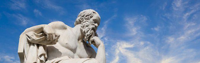 Rechtschreibung hat ihn nicht beschäftigt. Sokrates hinterließ keine schriftlichen Werke. Foto: anastasios71 / Adobe Stock
