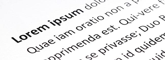 Was ist eigentlich Lorem ipsum? Foto: jiradet_ponari / Adobe Stock