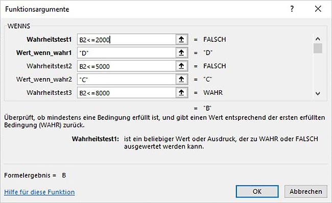 Excel - Verschachtelte Bedingungen