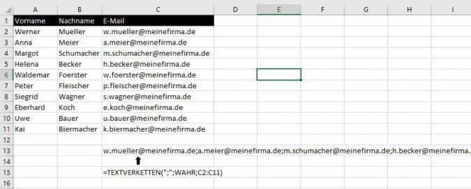 Excel - Textverkettung