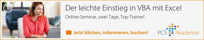 Excel-Seminar der PCS Akademie