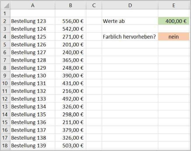 Excel - Bedingte Formatierung ein- und ausschalten