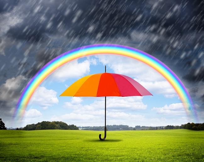 Regenschirm bei Schlechtwetter