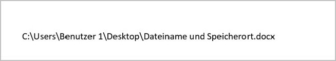 Word - Dateiname und Speicherort_3
