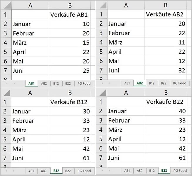Excel - 3D Summen mit Platzhalter 01