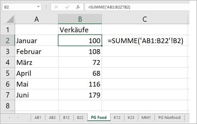 Excel - 3D Summen mit Platzhalter 02